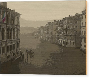 Wood Print featuring the photograph Venice by David Gleeson