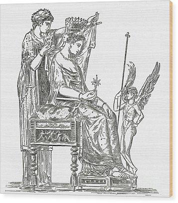 Venus, Roman Goddess Of Love Wood Print by Photo Researchers