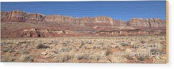 Vermillion Cliffs Panorama Wood Print by Bob and Nancy Kendrick