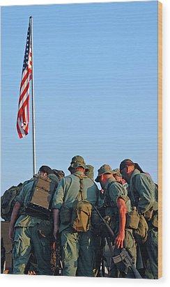 Veterans Remember Wood Print by Carolyn Marshall