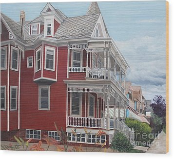 Victorian Afternoon Cape May Wood Print