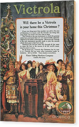 Victrola Advertisement Wood Print by Granger