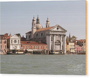 View On Venice Wood Print by Evgeny Pisarev