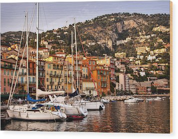 Wood Print featuring the photograph Villefranche-sur-mer  by Steven Sparks
