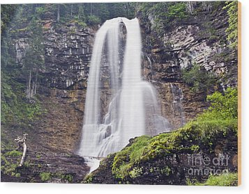 Virginia Falls Wood Print by Scotts Scapes