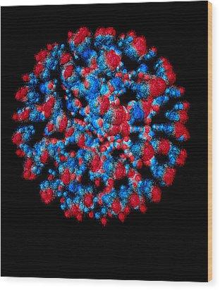 Visualisation Of Quark Structure Of Uranium Wood Print by Arscimed