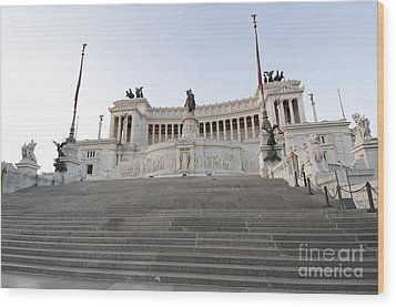Vittoriano Monument To Victor Emmanuel II. Rome Wood Print by Bernard Jaubert