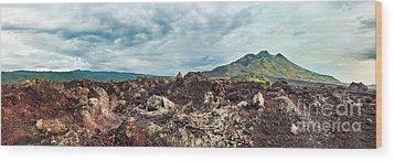 Volcano Batur Wood Print by MotHaiBaPhoto Prints