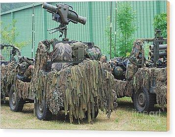 Vw Iltis Jeeps Of A Recce Scout Unit Wood Print by Luc De Jaeger