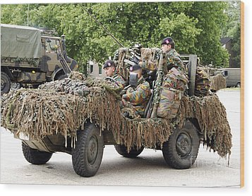 Vw Iltis Jeeps Used By Scout Or Recce Wood Print by Luc De Jaeger