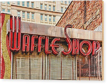 Waffle Shop Wood Print by Christopher Holmes