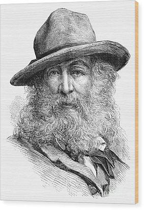 Walt Whitman (1819-1892) Wood Print by Granger