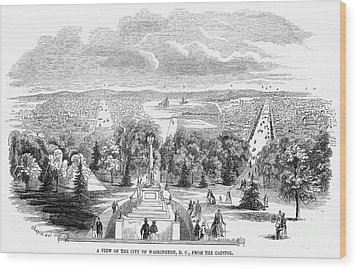 Washington, D.c., 1853 Wood Print by Granger
