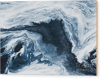 Water Abstraction Wood Print by Iryna Shpulak
