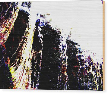 Wood Print featuring the mixed media Water Falls by Rogerio Mariani