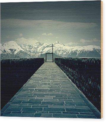 Way To Heaven Wood Print by Joana Kruse