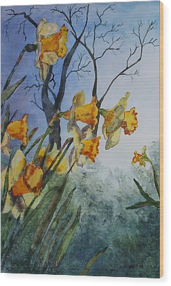 Wood Print featuring the painting Welcome Springtime by Patsy Sharpe