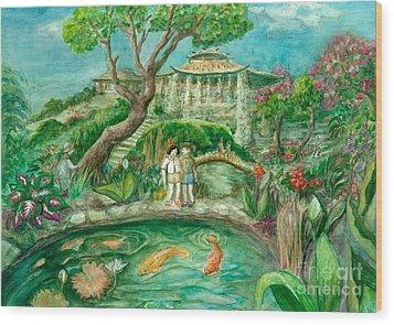 We're In Wonderland Wood Print by Lynn Maverick Denzer
