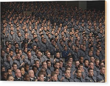 West Point Cadets Applaud President Wood Print by Everett