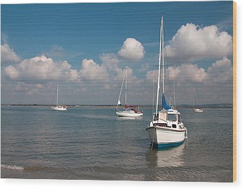 Wood Print featuring the photograph West Wittering by Shirley Mitchell