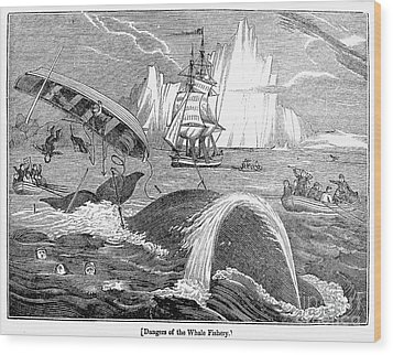Whaling, 1833 Wood Print by Granger
