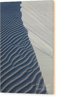 White Sands Wood Print by Keith Kapple