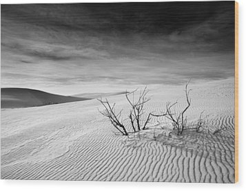 Wood Print featuring the photograph White Sands by Mike Irwin