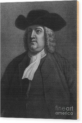 William Penn, Founder Of Pennsylvania Wood Print by Photo Researchers
