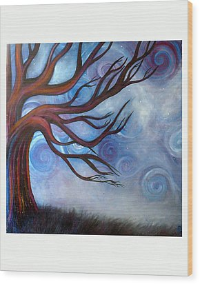 Wood Print featuring the painting Wind by Monica Furlow