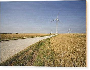 Wind Turbine, Humberside, England Wood Print by John Short