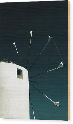 Windmill Wood Print by Joana Kruse