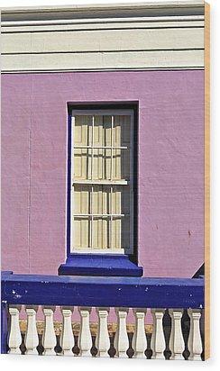 Windows Of Bo-kaap Wood Print by Benjamin Matthijs