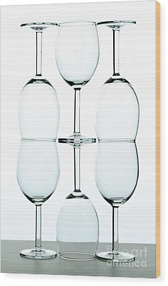 Wine Glasses Wood Print by Blink Images