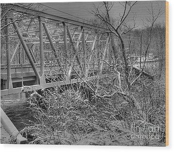 Winter Bridge Wood Print by David Bearden