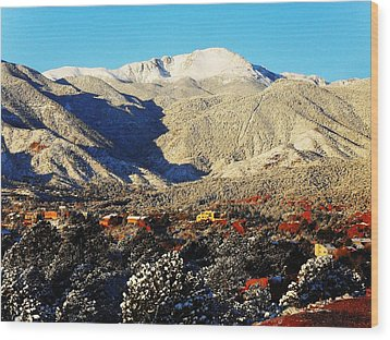 Wood Print featuring the photograph Wintery Colorado Morning by Clarice  Lakota