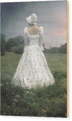 Woman With Bonnet Wood Print by Joana Kruse