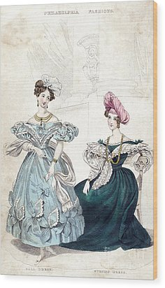 Womens Fashion, 1833 Wood Print by Granger