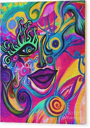 Wonkey Wood Print by Joy Tagliavia