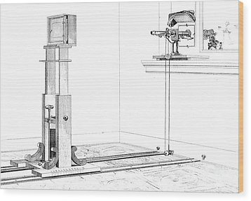Woodwards Photomicrography Apparatus Wood Print by Science Source