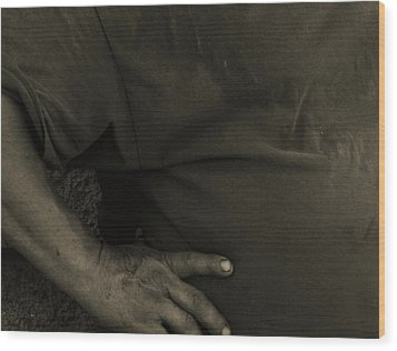 Wood Print featuring the photograph Working Man by Lin Haring