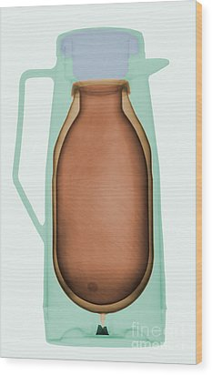 X-ray Of A Thermos Wood Print by Ted Kinsman