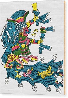 Xochiquetzal, Aztec Goddess Of Beauty & Wood Print by Photo Researchers