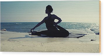 Yoga Wood Print by Stelios Kleanthous
