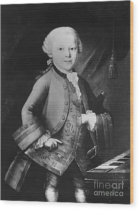 Young Wolfgang Amadeus Mozart, Austrian Wood Print by Omikron