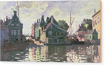 Zaandam Wood Print by Claude Monet
