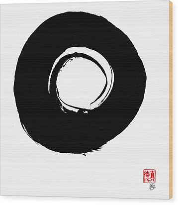 Zen Circle Six Wood Print