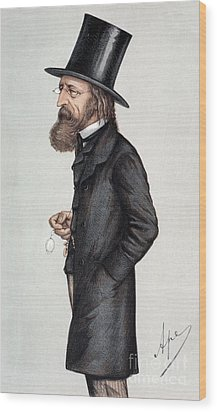 Alfred Tennyson (1809-1892) Wood Print by Granger