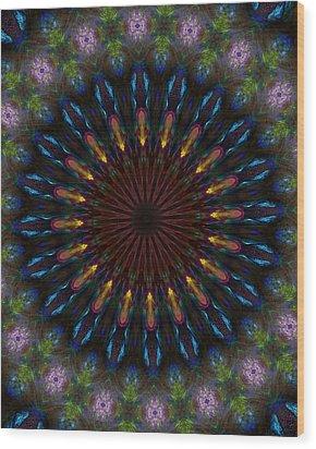10 Minute Art 120611a Wood Print by David Lane