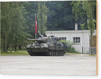 The Leopard 1a5 Of The Belgian Army Wood Print by Luc De Jaeger