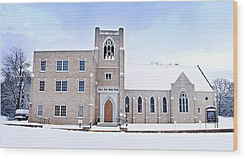 1001-0369 Cherry Street Baptist Of Clarksville Wood Print by Randy Forrester
